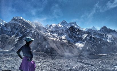 Infront of Mount everest trekking
