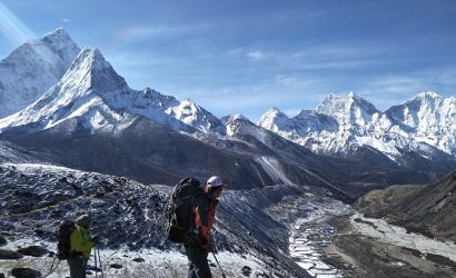 Trekkers on everest region trek