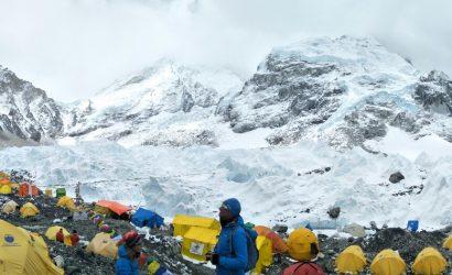 Adventure sleep at tent camp at everest region